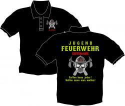 Jugendfeuerwehr Polo Ausrüstung Bedruckte Polos Berufe Vereinsshirts Feuerwehr