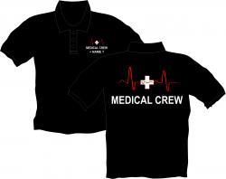 Medical Crew Polos bedruckt Ffw Shirts Arbeitsbekleidung Feuerwehr Polo