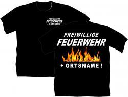 Freiwillige Feuerwehr T-Shirt Löschen bedruckte feuerwehr Shirts Berufe